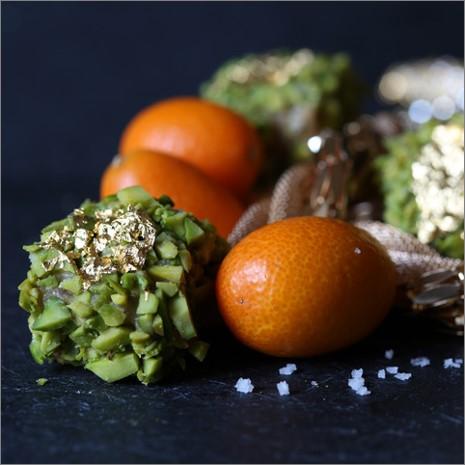 Kumquat Oliven Meersalz und Gold